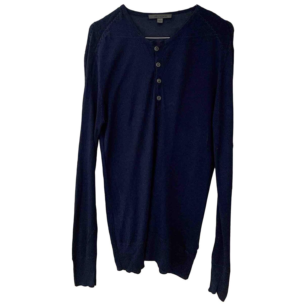 John Varvatos \N Pullover.Westen.Sweatshirts  in  Blau Seide
