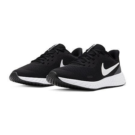 Nike Revolution 5 Little/Big Kid Girls Running Shoes, 4 1/2 Medium, Black
