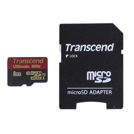 Transcend 8 GB MicroSDHC Card Class 10, UHS-1 U1