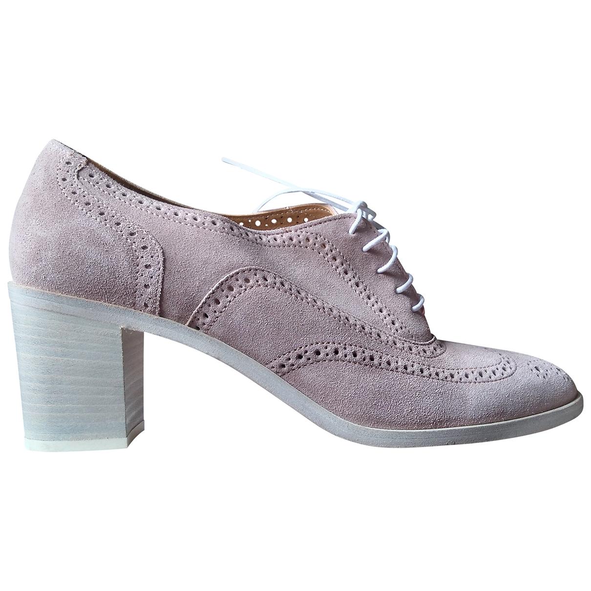 Paul Smith - Boots   pour femme en suede - rose
