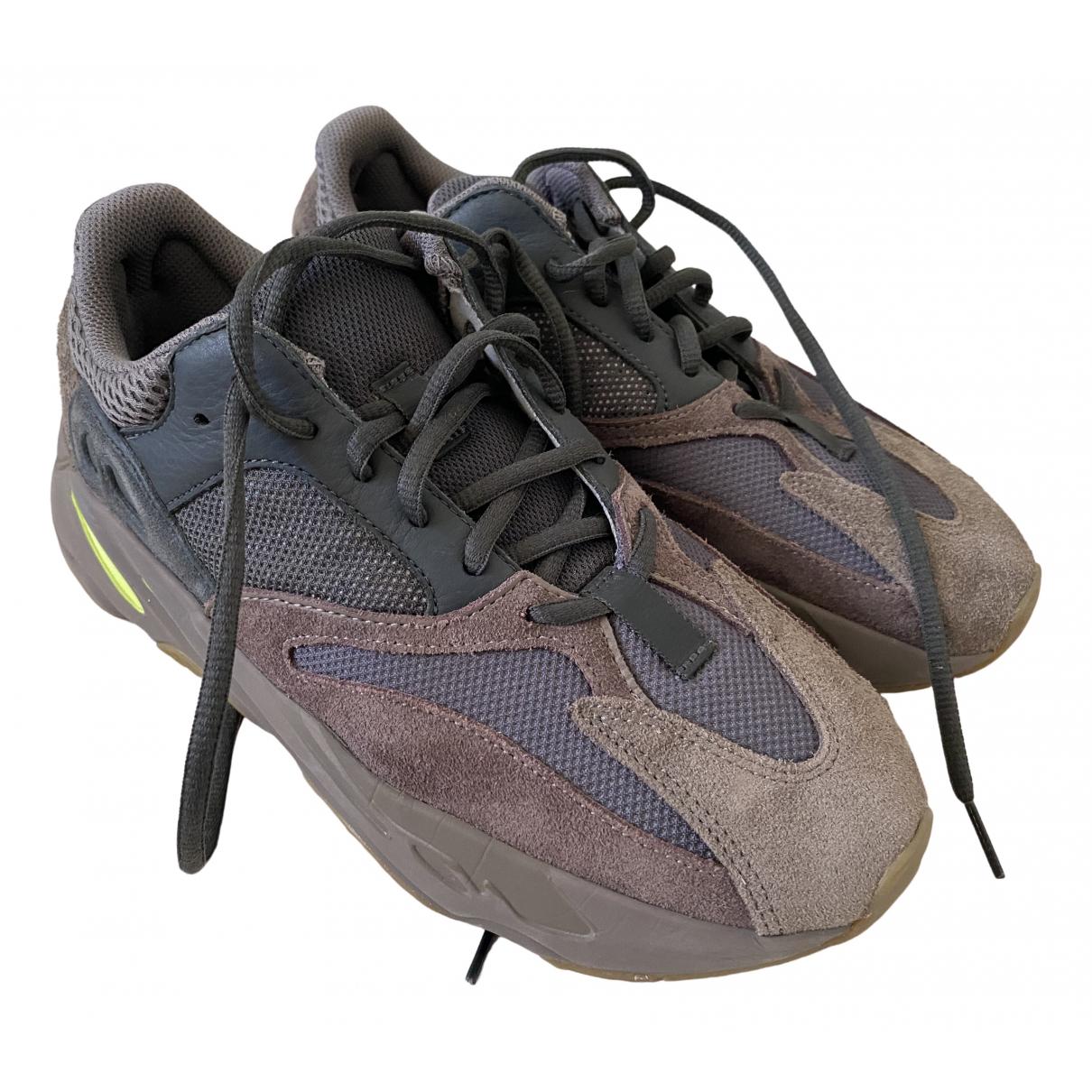 Yeezy X Adidas - Baskets 500 pour homme en toile - marron