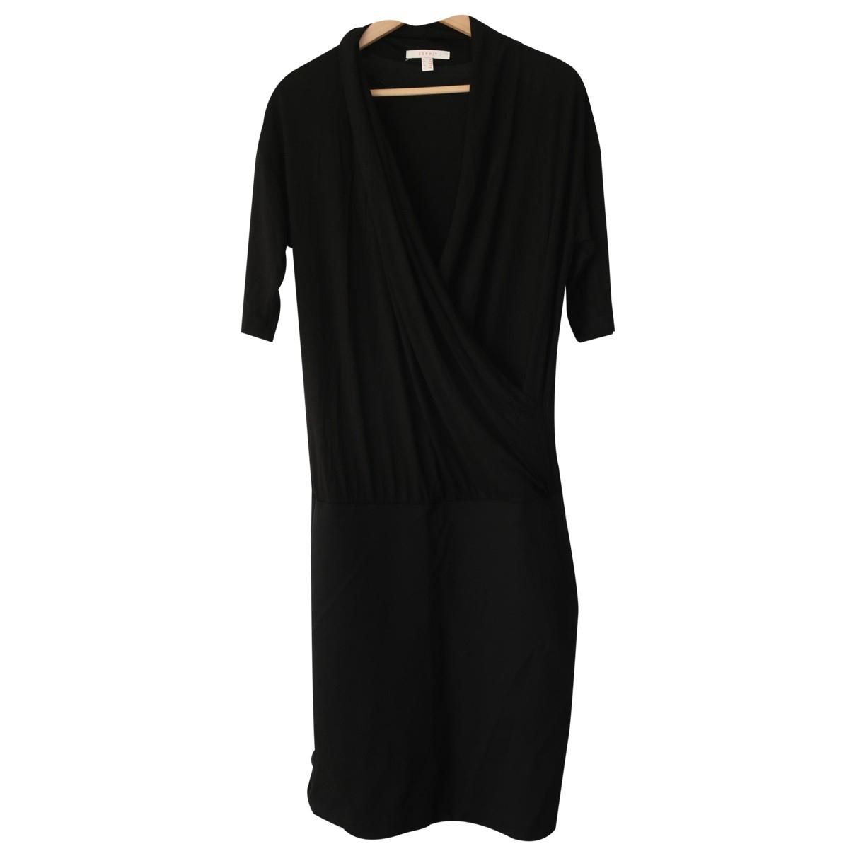 Non Signe / Unsigned \N Kleid in  Schwarz Baumwolle - Elasthan