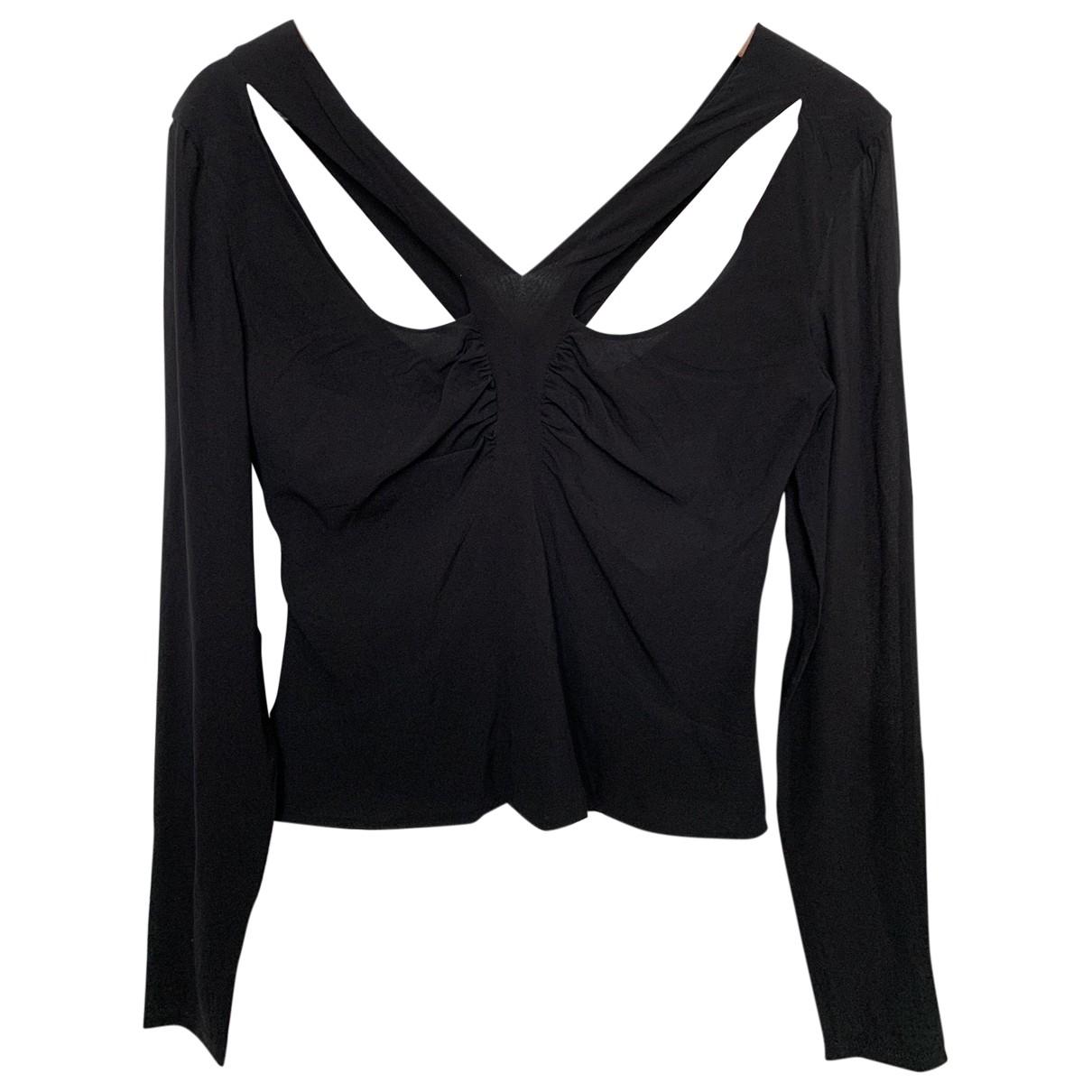 Versace - Top   pour femme en soie - noir