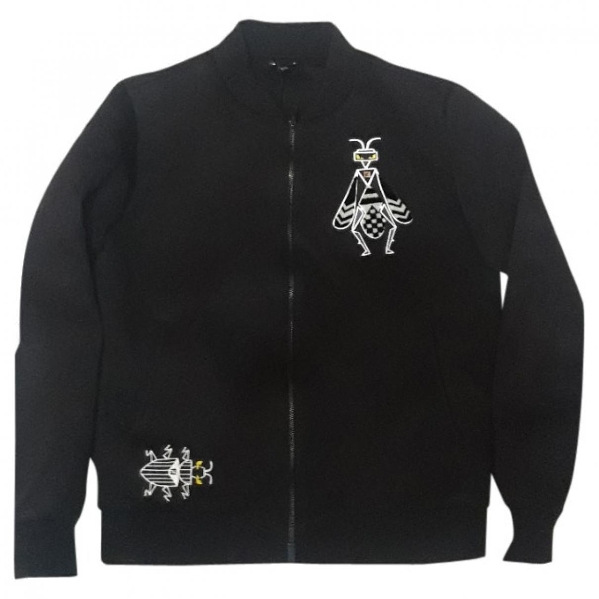 Fendi \N Pullover.Westen.Sweatshirts  in  Schwarz Viskose
