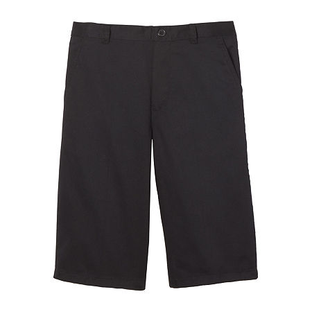French Toast Little & Big Boys Flat Front Chino Short, 4 , Black