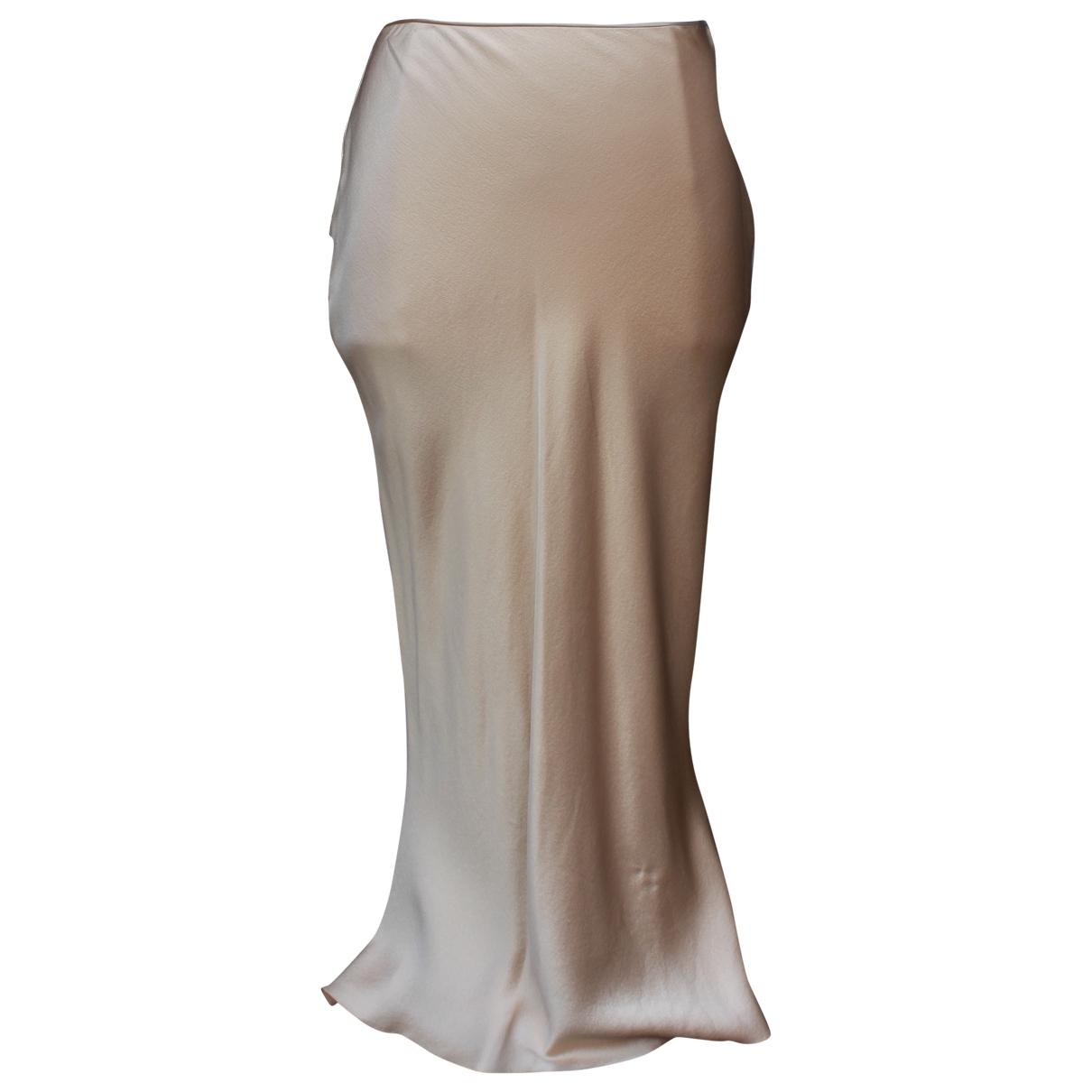 John Galliano - Jupe   pour femme en soie - beige
