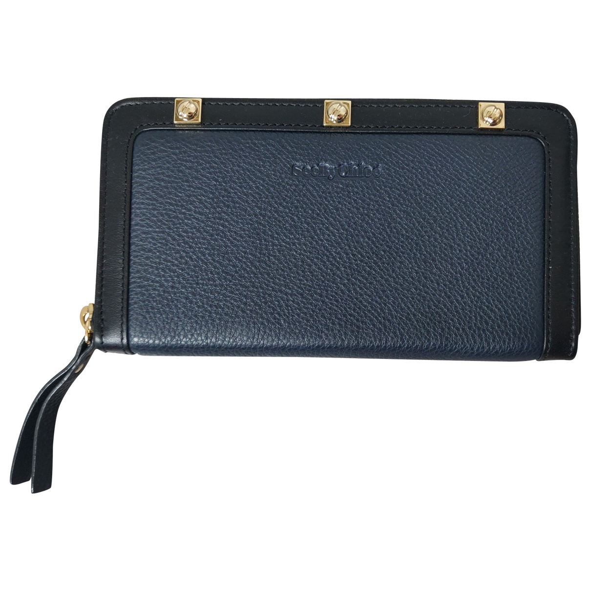 See By Chloé \N Navy Leather wallet for Women \N