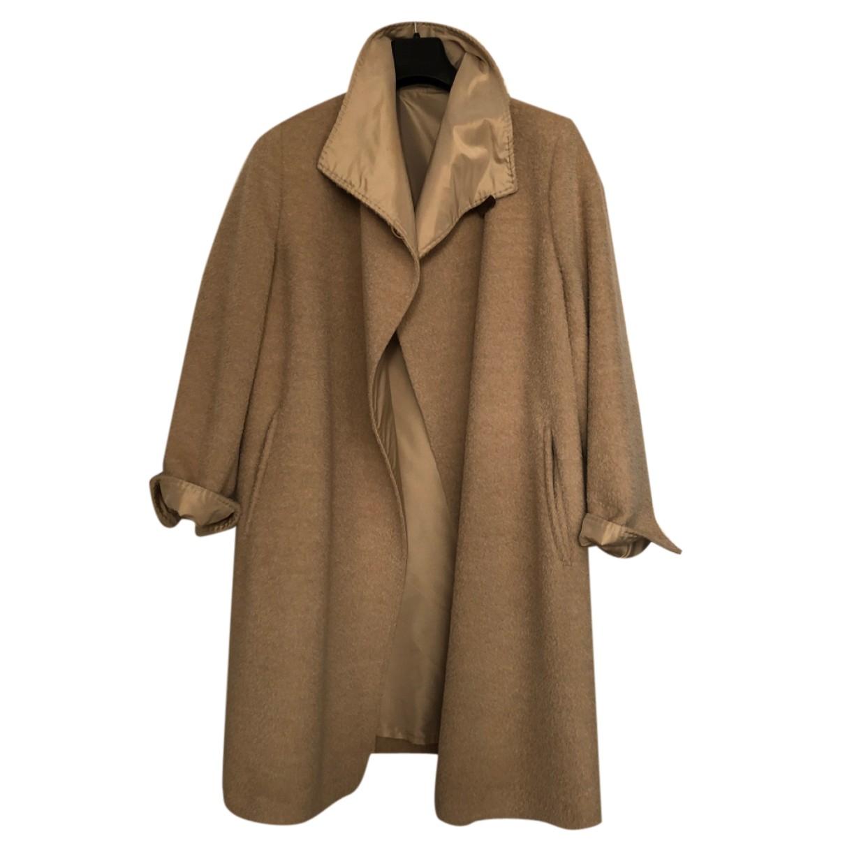 Max Mara - Manteau   pour femme en laine - blanc