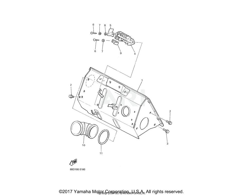 Yamaha OEM 8AE-23892-00-00 SHIELD, HEAT
