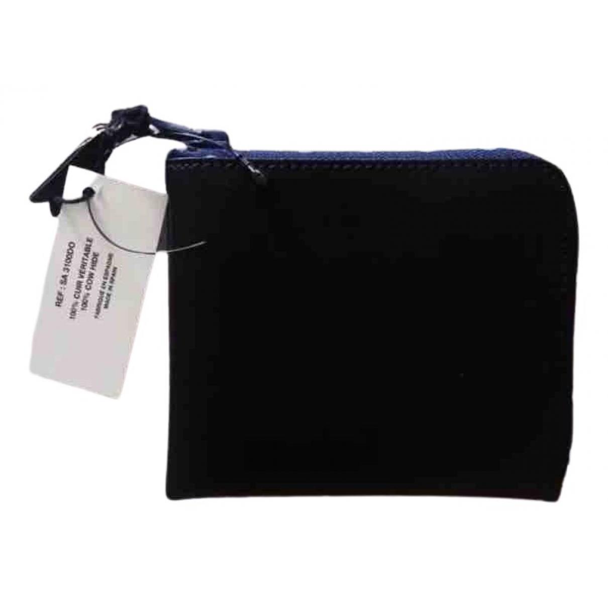 Comme Des Garcons \N Black Leather Small bag, wallet & cases for Men \N