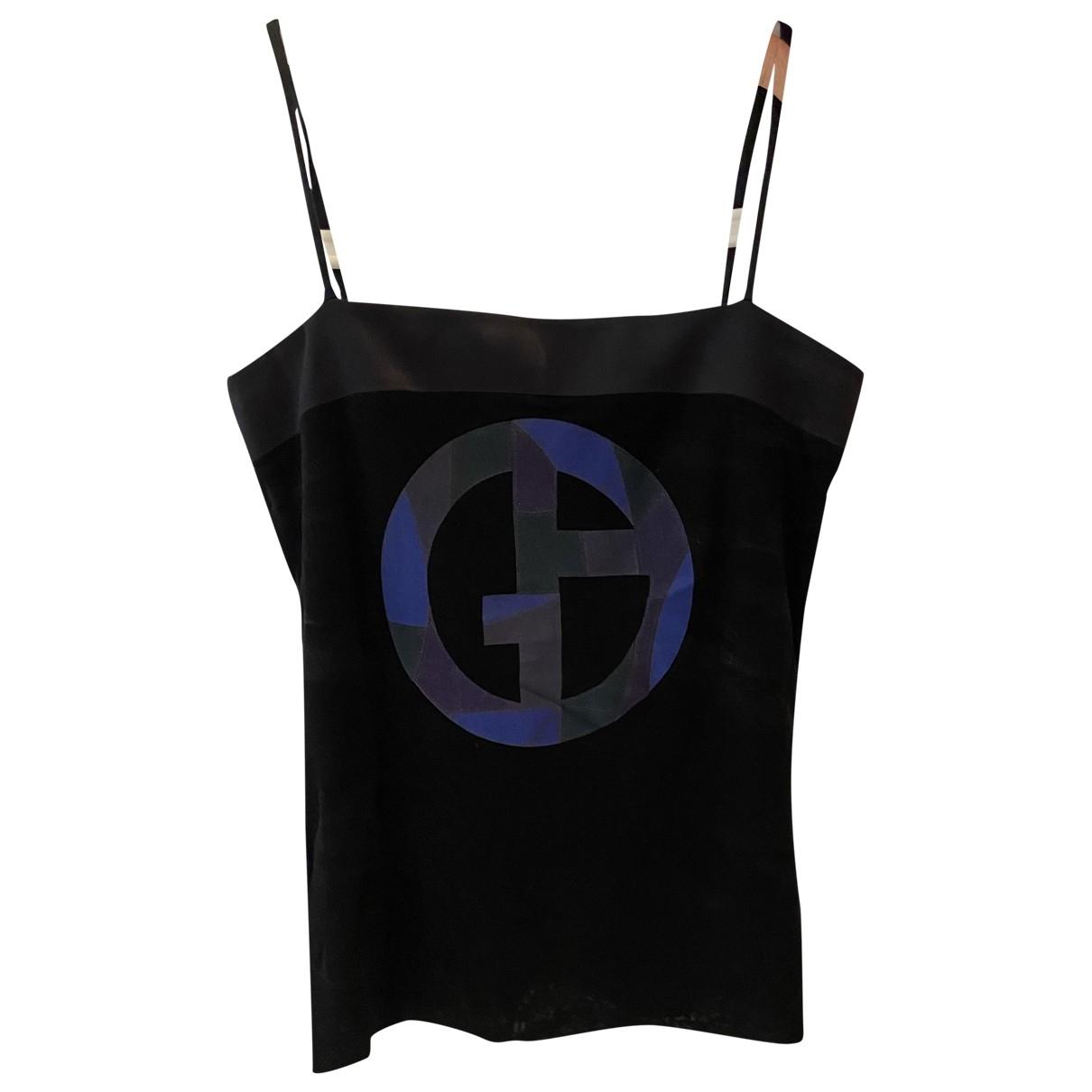 Giorgio Armani \N Black Cotton  top for Women 38 IT