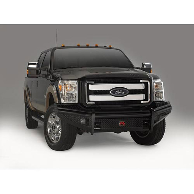 Fab Fours FS08-S1961-1 08-10 Ford Super Duty Front Ranch Bumper w/No Guard (F-250 - F-550) w/Tow Hooks Bare