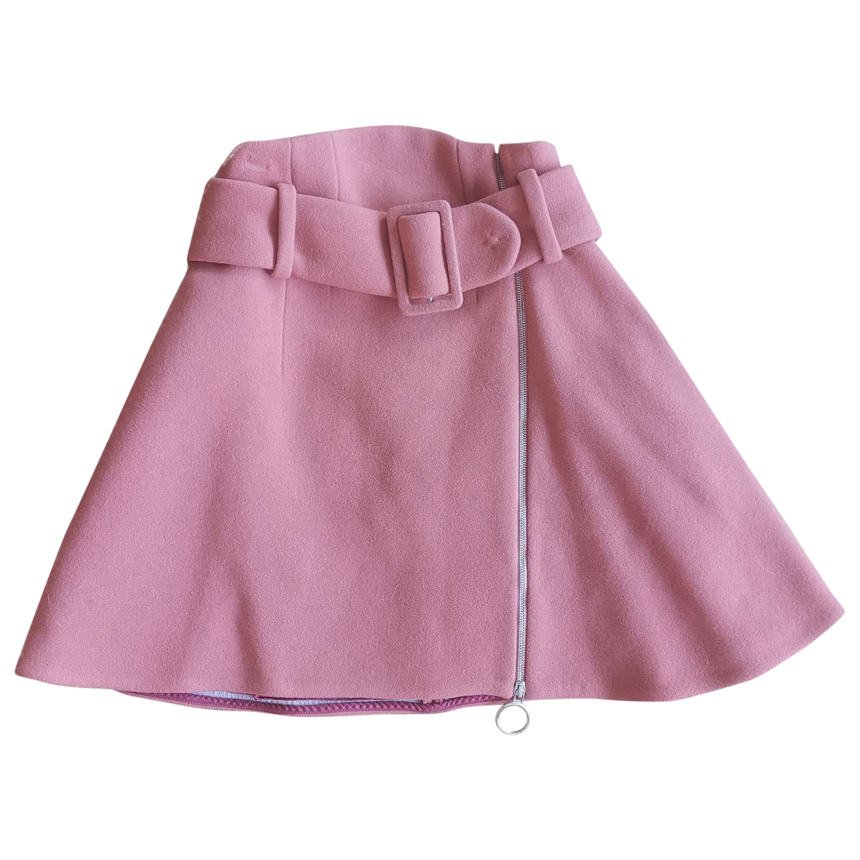 Carven - Jupe   pour femme en laine - rose
