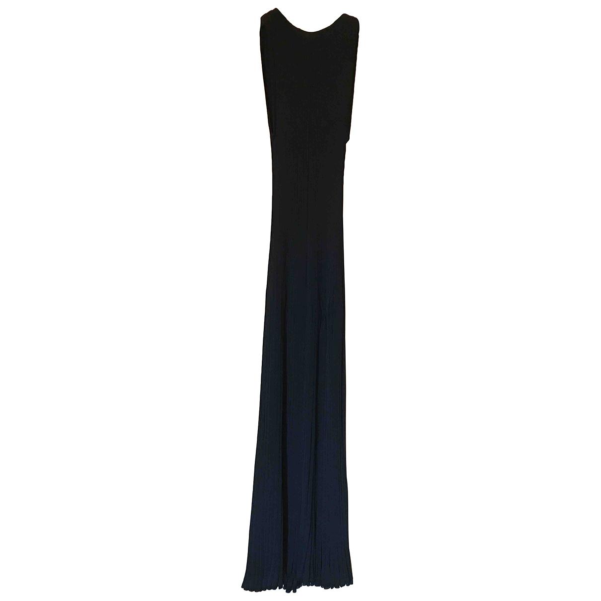 Dusan \N Kleid in  Schwarz Viskose