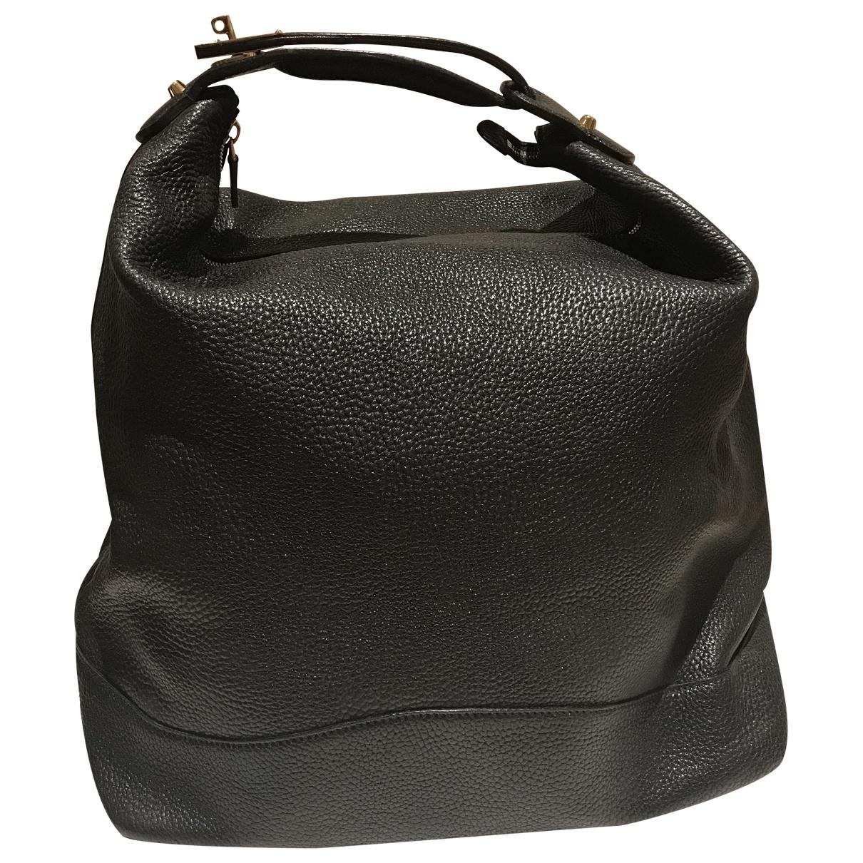Gucci - Porte epaule   pour femme en cuir - noir