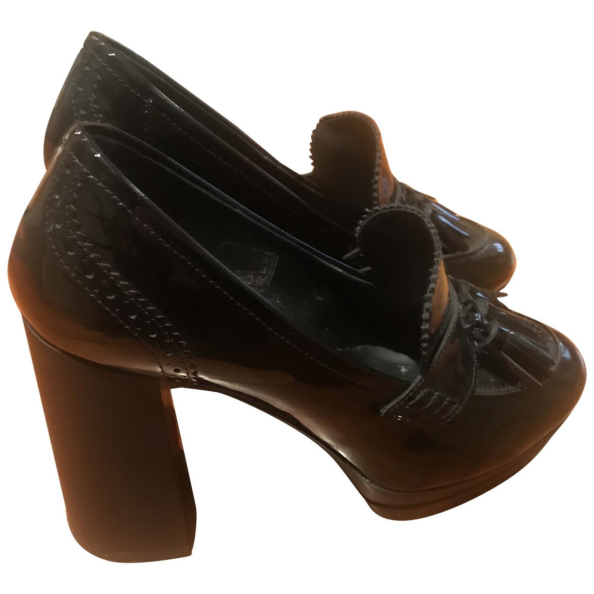 Hogan - Derbies   pour femme en cuir - noir