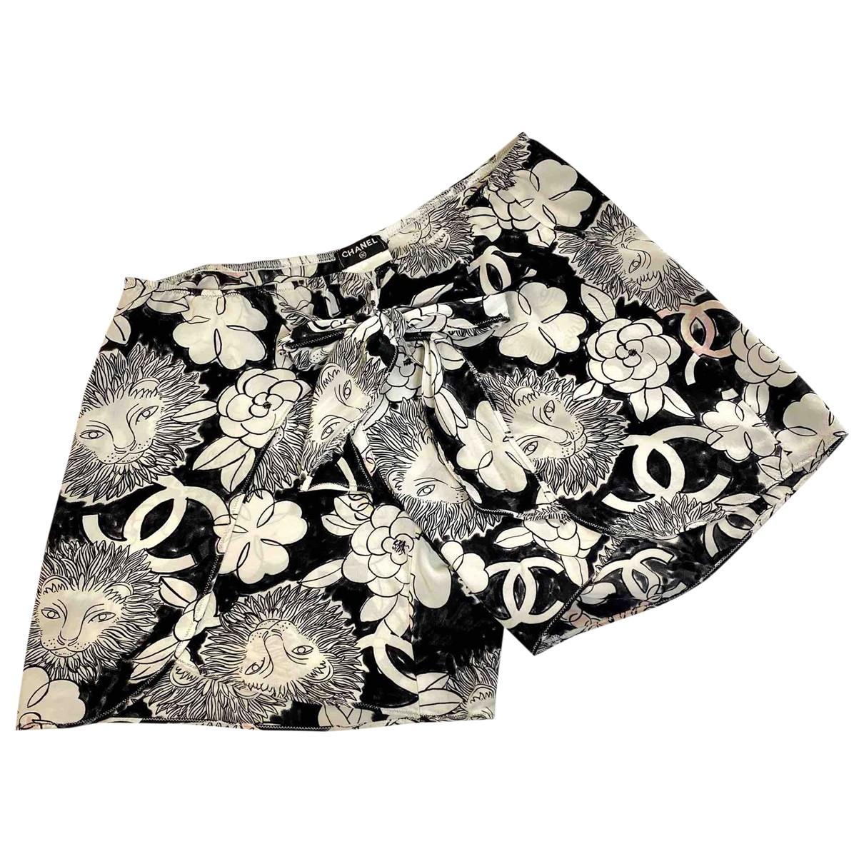 Chanel \N Shorts in  Schwarz Seide