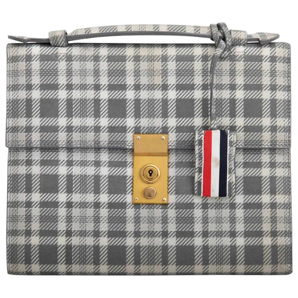 Thom Browne \N Accessoires in  Grau Leder