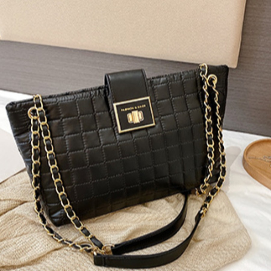 LW lovely Trendy Chain Strap Black Crossbody Bag