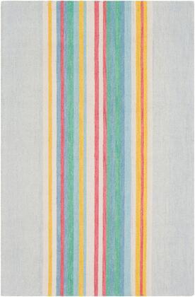 Technicolor TEC-1017 8' x 10' Rectangle Modern Rugs in Rose  Denim  Light Gray  Ivory  Bright Yellow