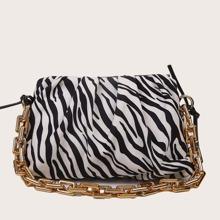 Tasche mit Zebra Streifen Muster und Rueschen