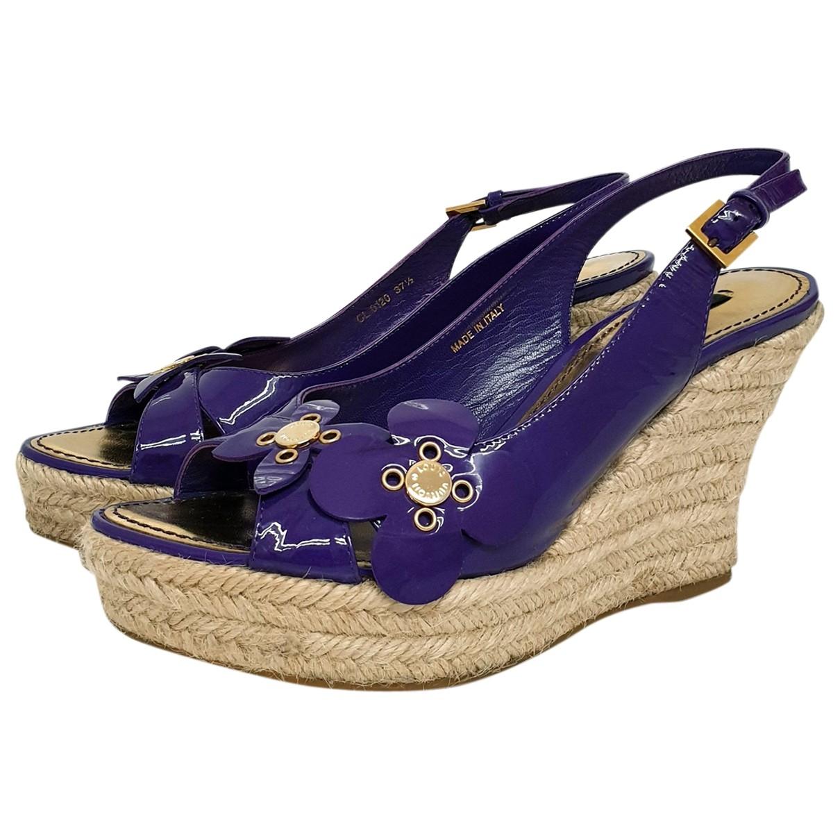 Louis Vuitton - Espadrilles   pour femme en cuir verni - violet