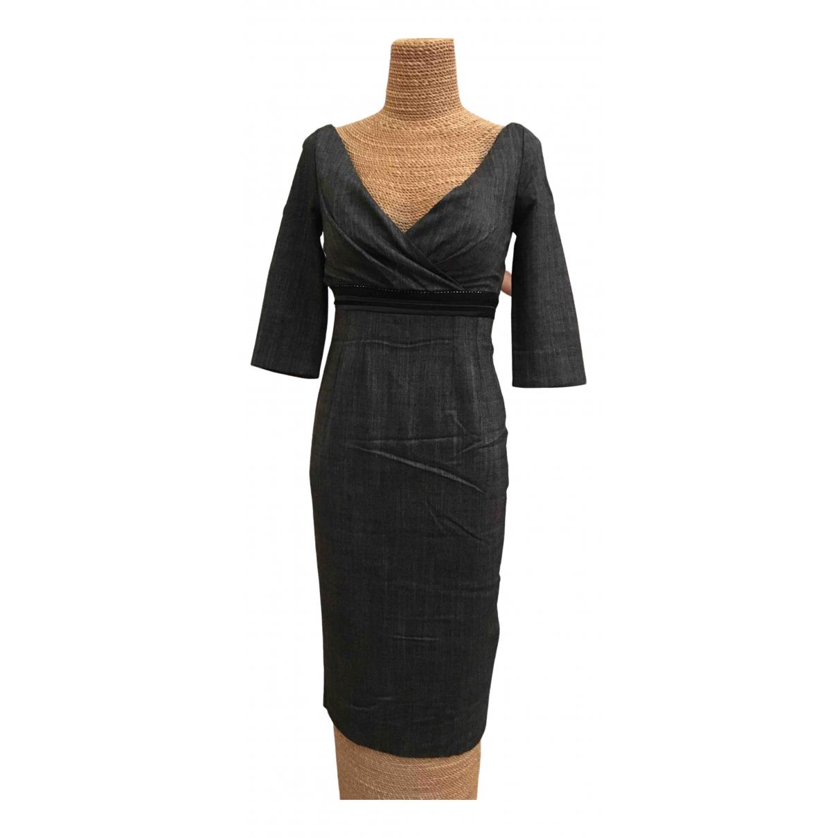 Pinko \N Kleid in  Grau Viskose