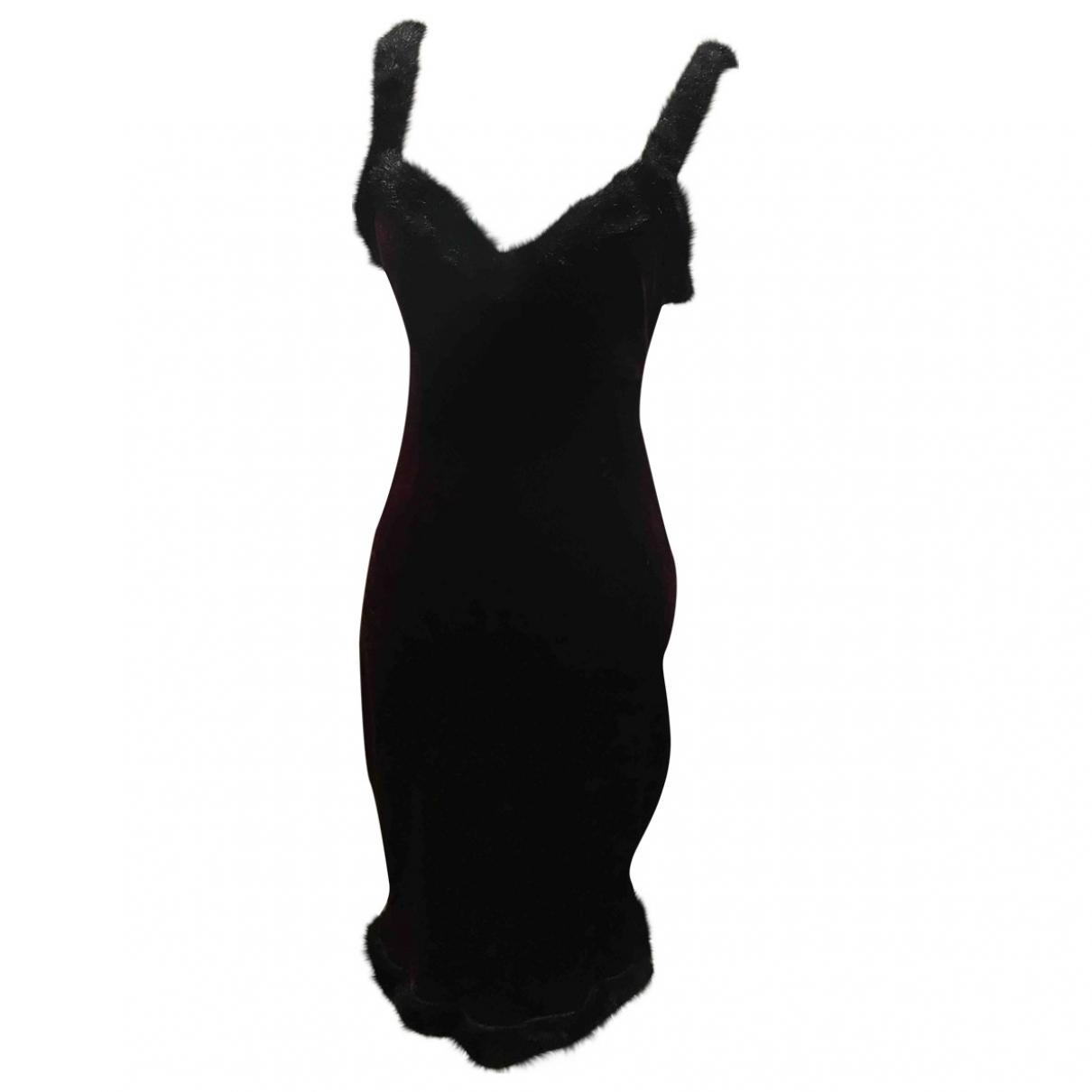 Non Signé / Unsigned \N Burgundy Velvet dress for Women S International
