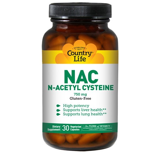 NAC (N-Acetyl Cysteine) 30 Caps by Country Life