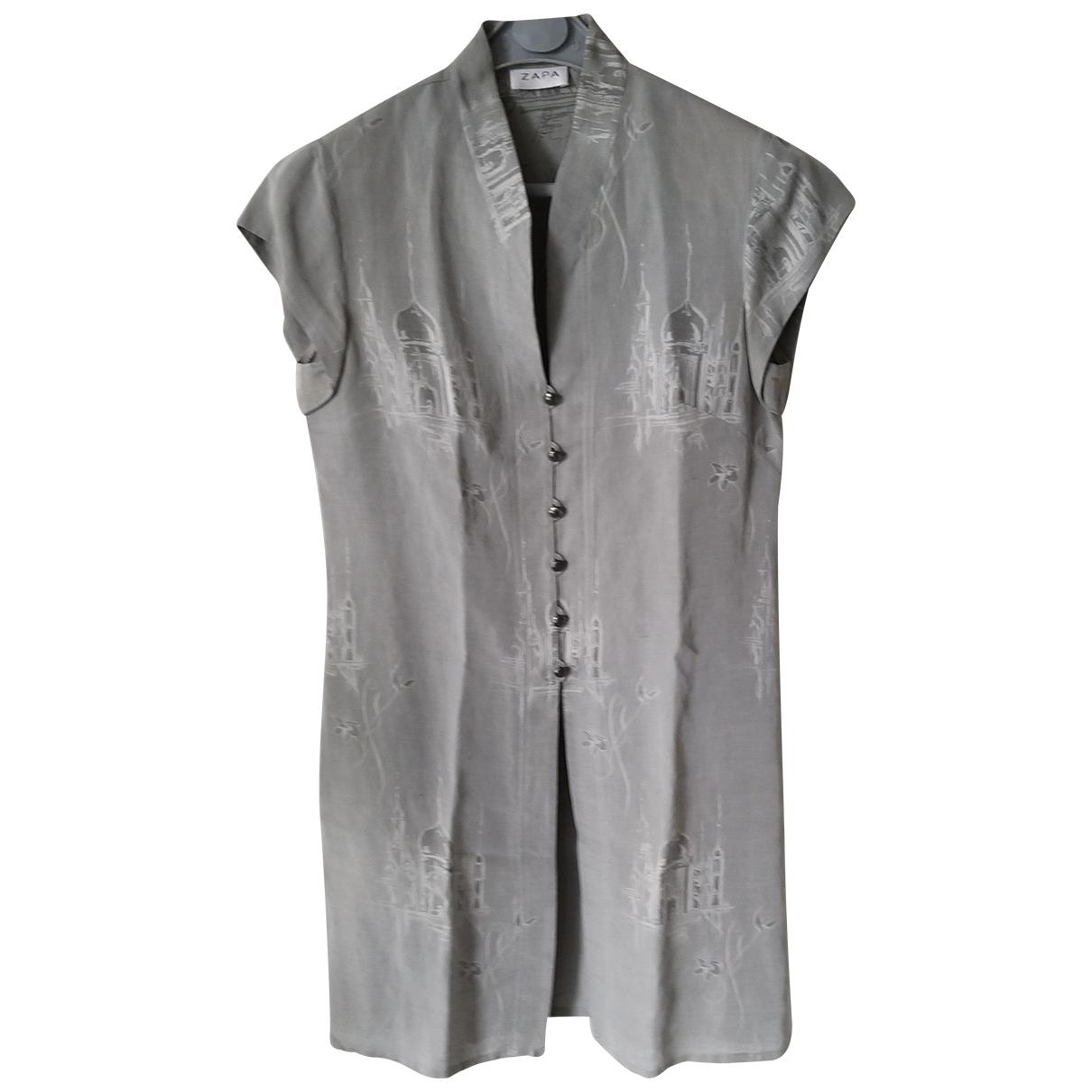 Zapa \N Grey Linen  top for Women 38 FR