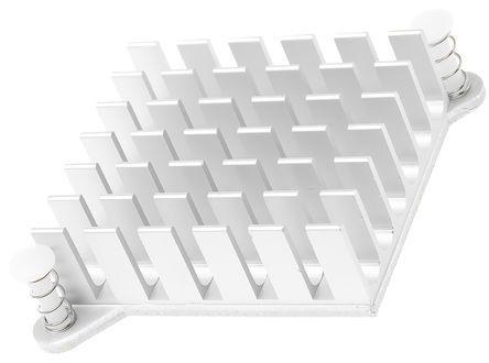 ABL Components Heatsink, 10.5K/W, 10 x 49 x 49mm, Adhesive Foil, Natural