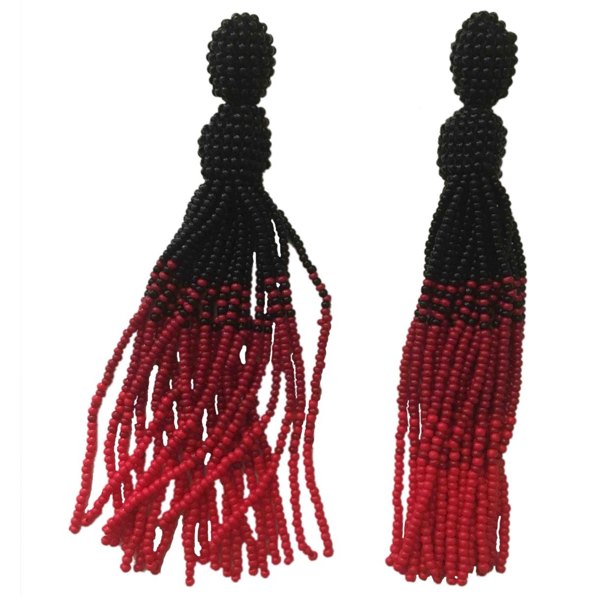 - Boucles doreilles Motifs Ethniques pour femme en verre - multicolore