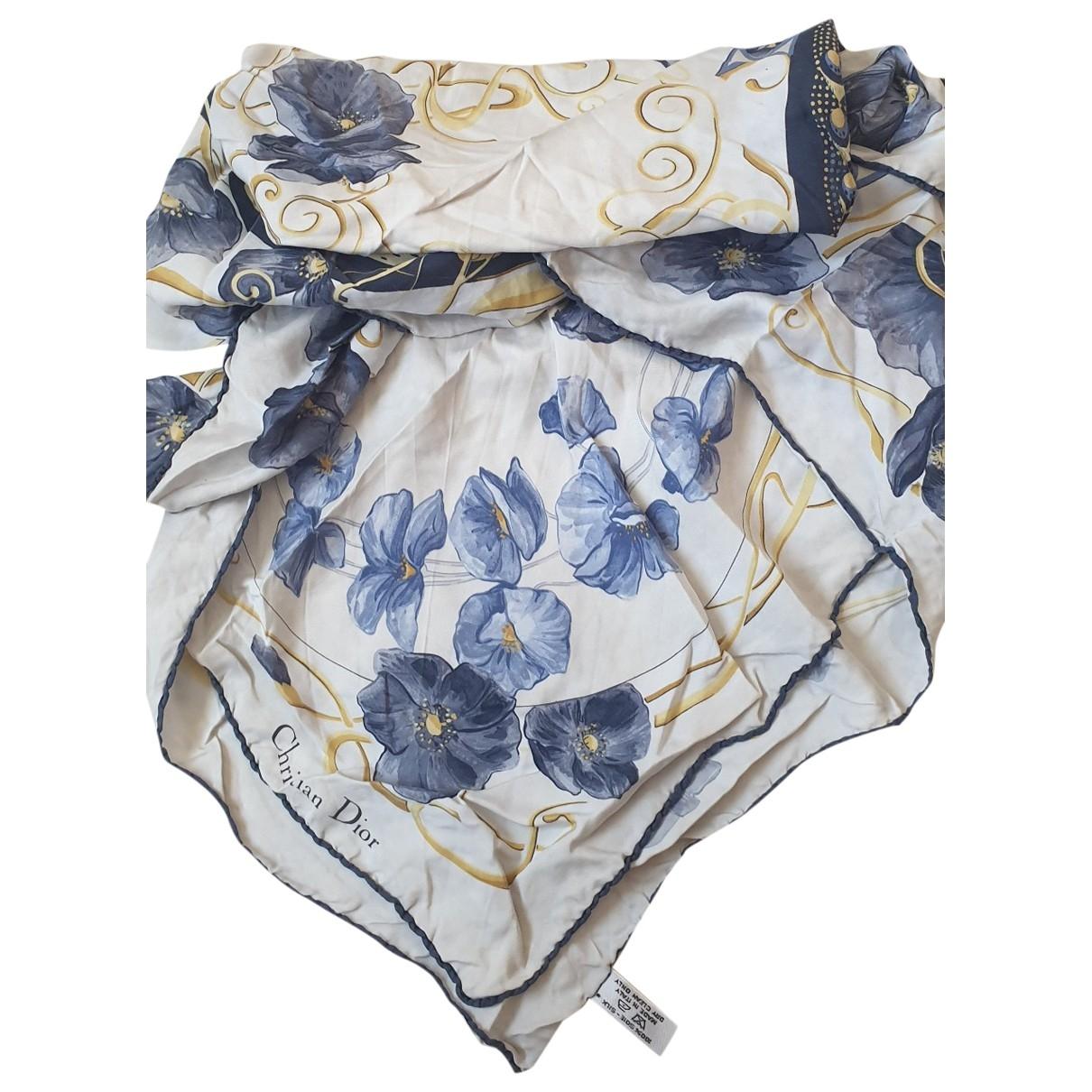 Dior - Foulard   pour femme en soie - bleu