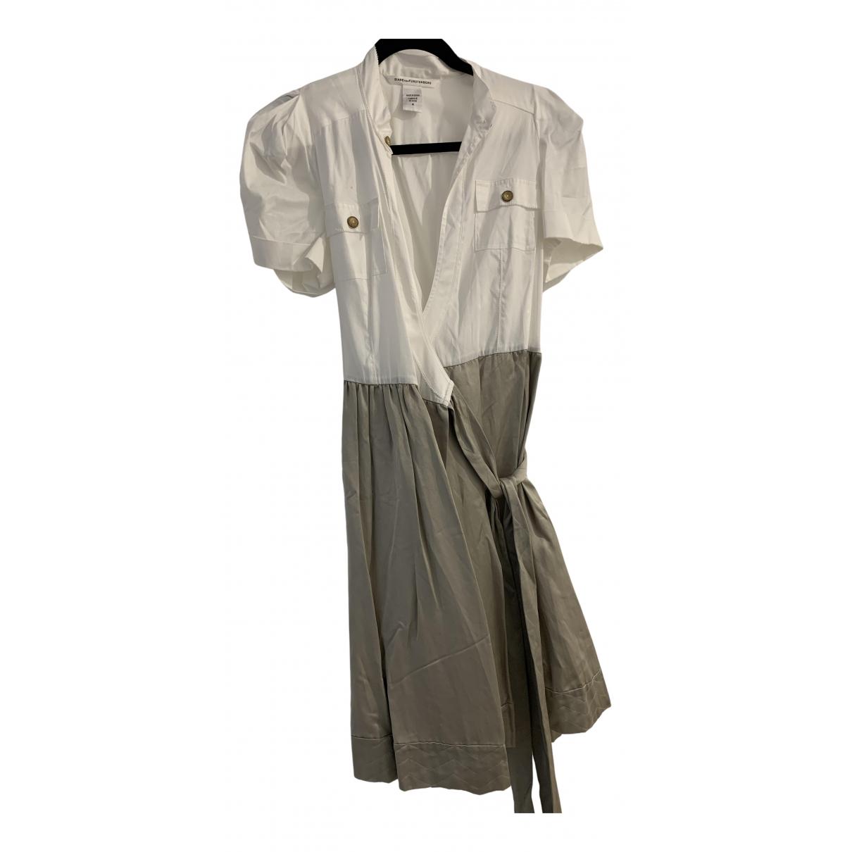 Diane Von Furstenberg \N Kleid in  Gold Seide