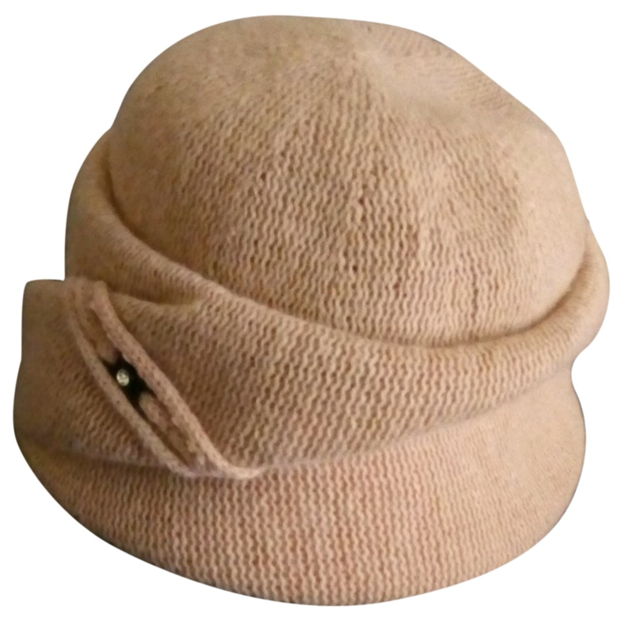 Non Signé / Unsigned N Beige Wool hat for Women M International