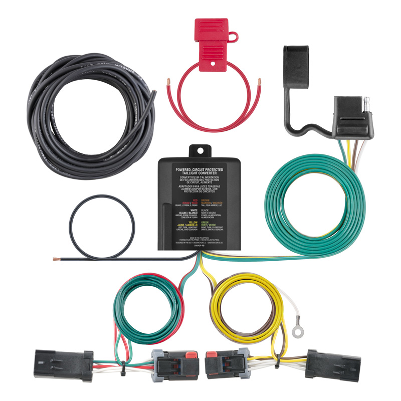 Curt 56344 Custom Wiring Harness (4-Way Flat Output)