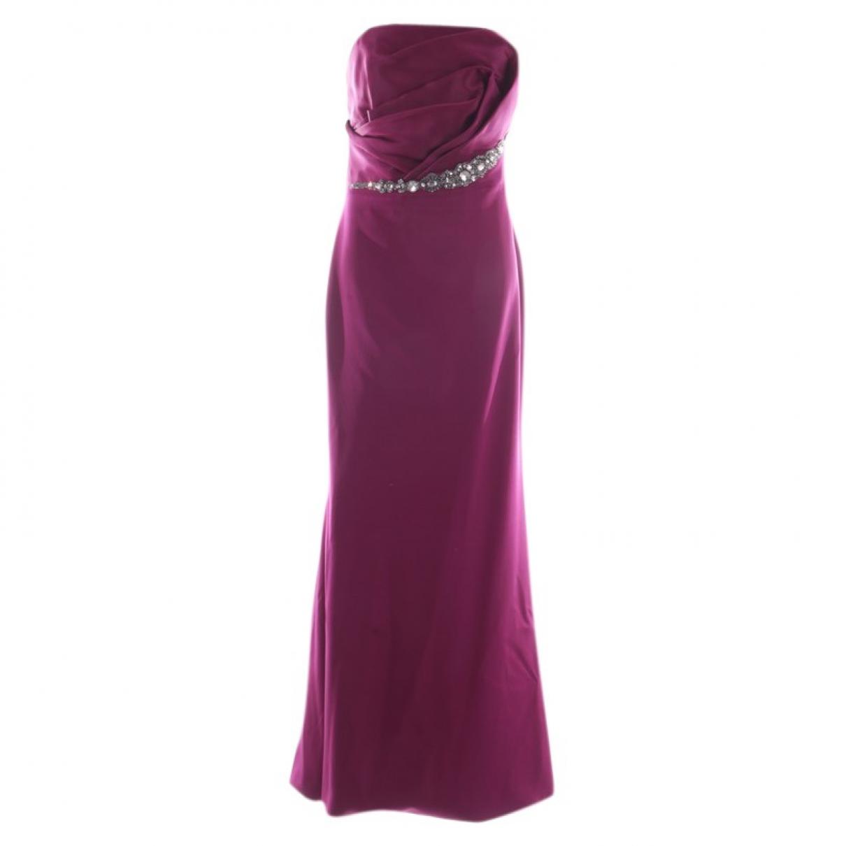 Marchesa - Robe   pour femme en soie - violet