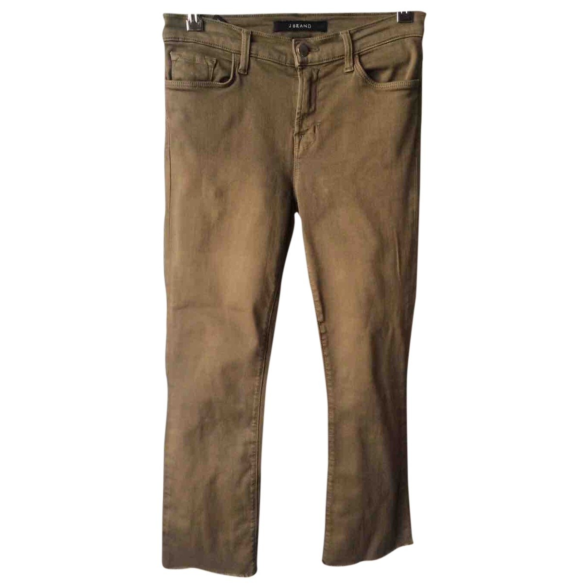 J Brand \N Brown Cotton - elasthane Jeans for Women 26 US