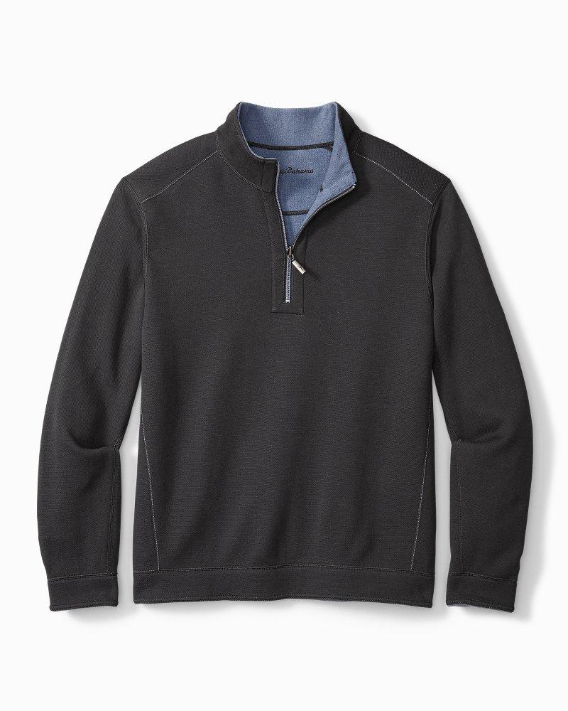 Big & Tall Flipshore Half-Zip Reversible Sweatshirt