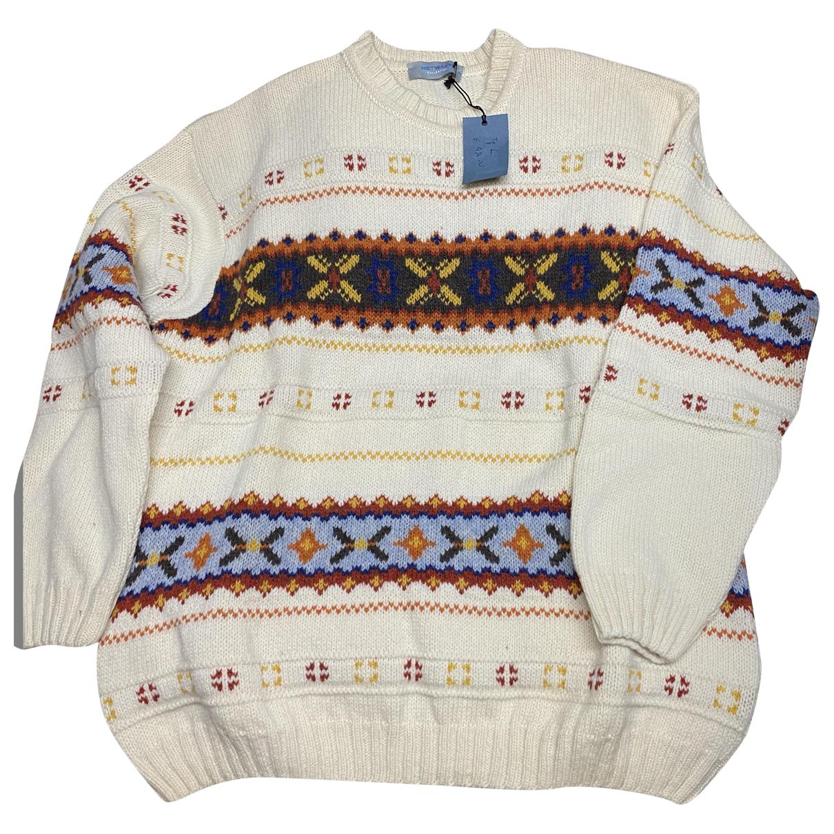 - Pulls.Gilets.Sweats   pour homme en laine - blanc