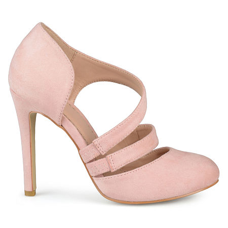 Journee Collection Womens Zeera Pumps Stiletto Heel, 8 1/2 Medium, Pink