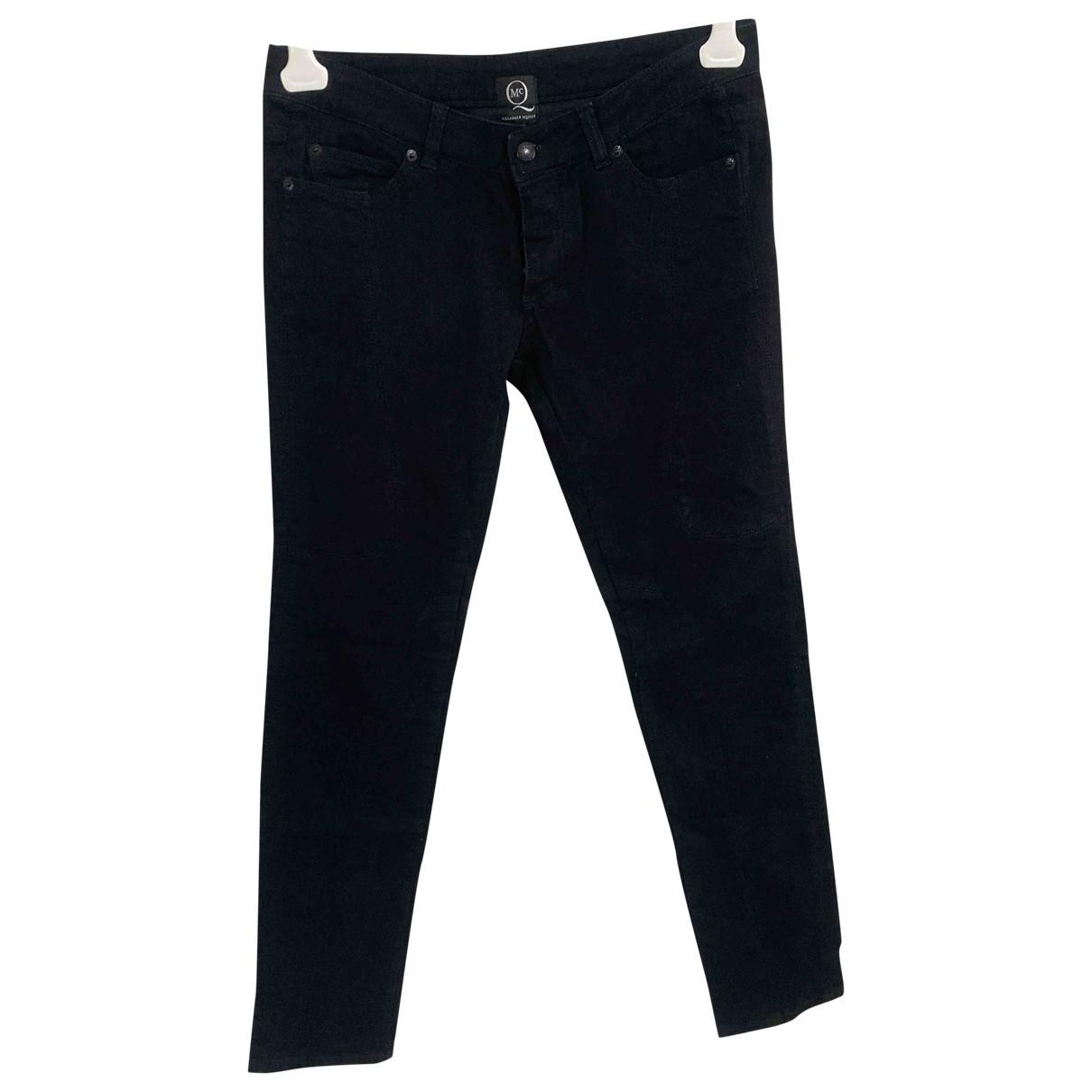 Mcq \N Black Cotton Jeans for Men 30 US