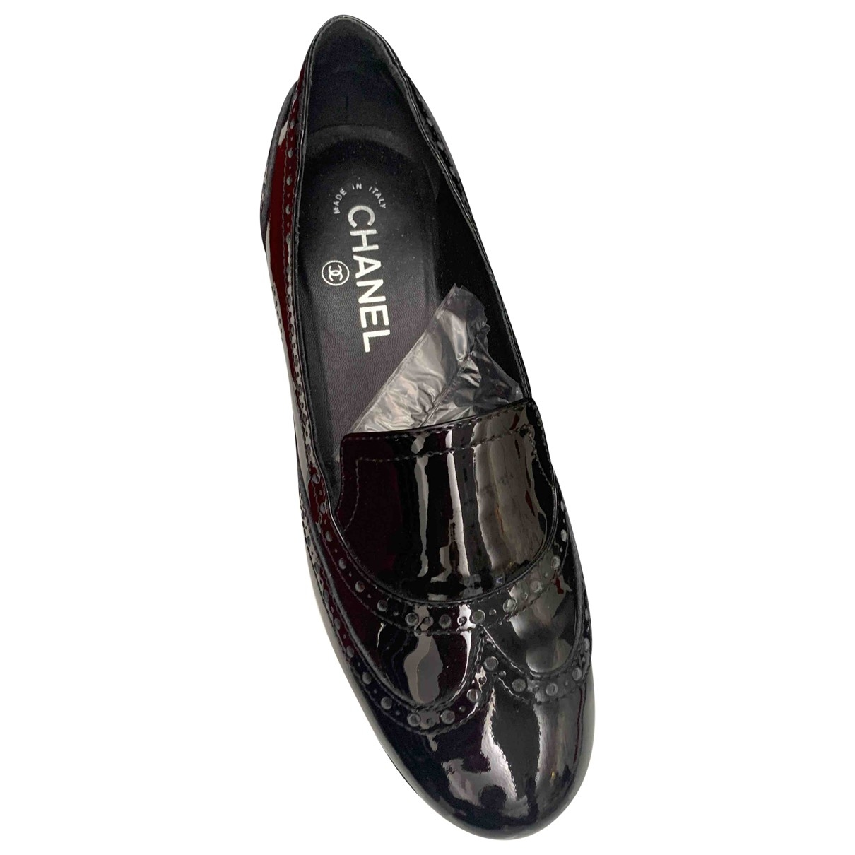 Chanel \N Black Patent leather Flats for Women 38 EU