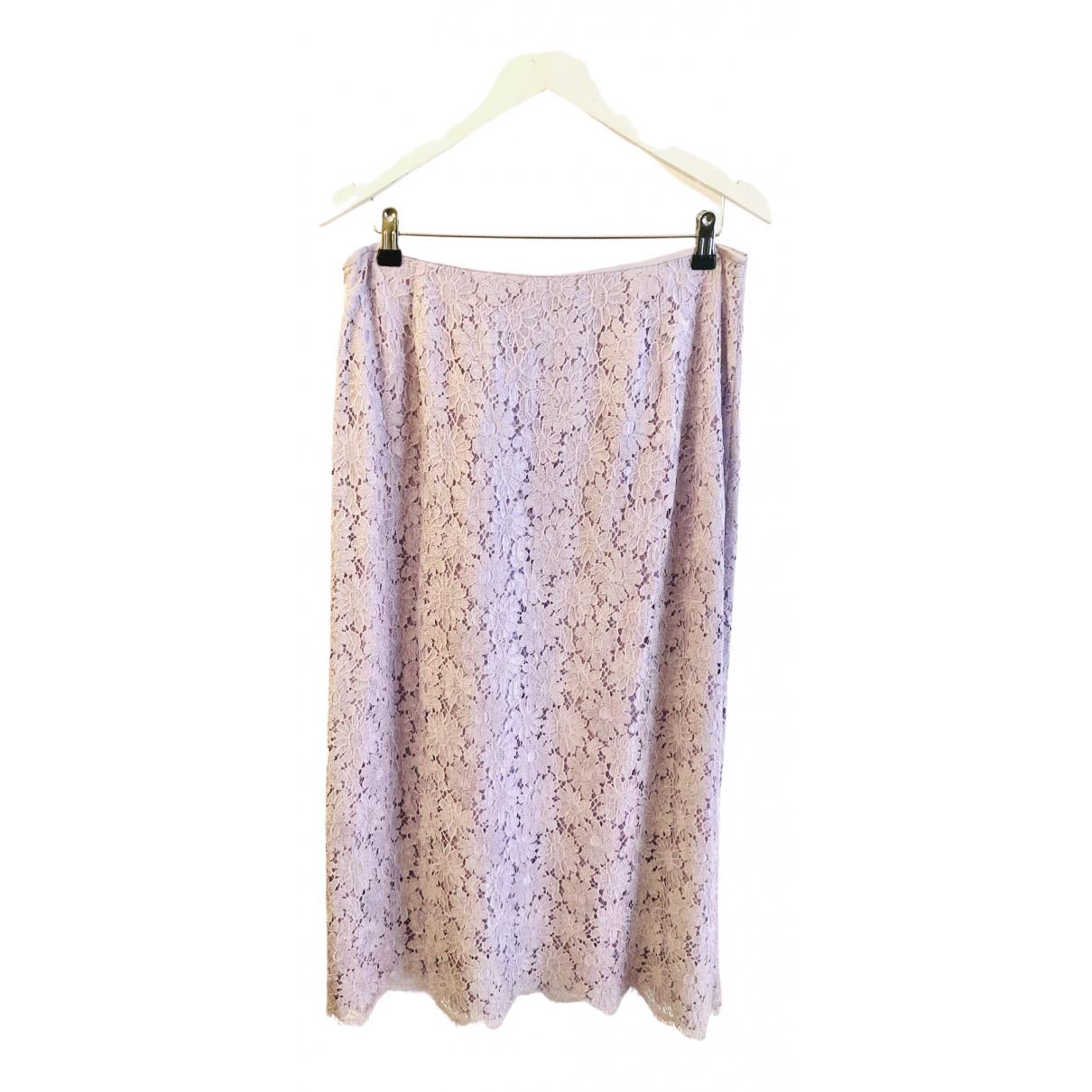 Escada N Purple Silk skirt for Women 42 FR