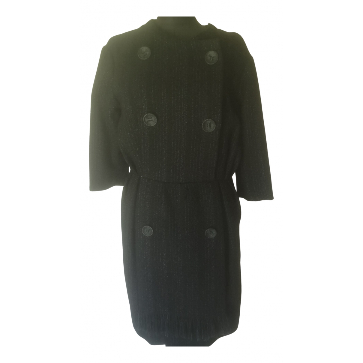 Non Signé / Unsigned \N Black Wool dress for Women 44 IT
