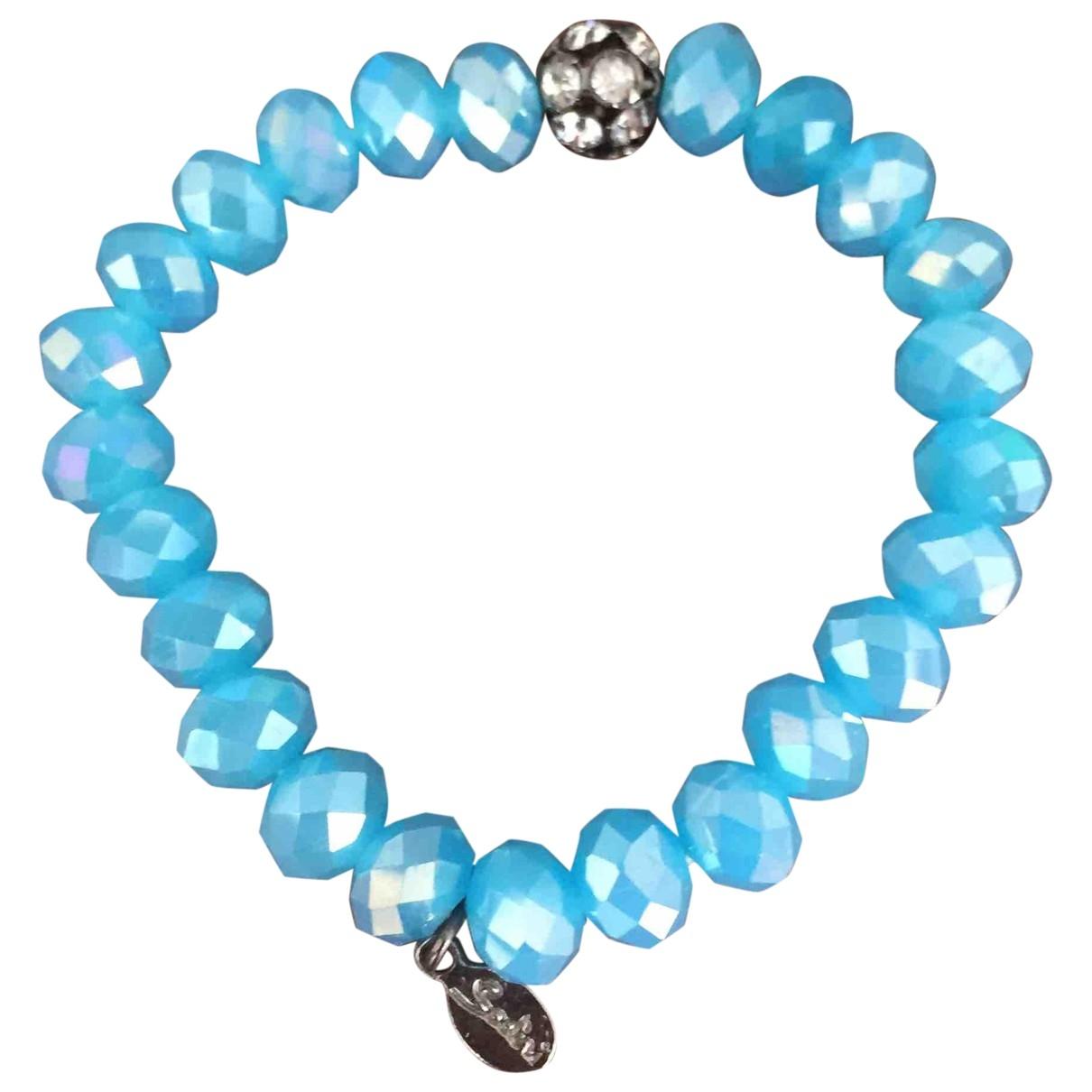 Non Signe / Unsigned Motifs Ethniques Armband in  Blau Glas
