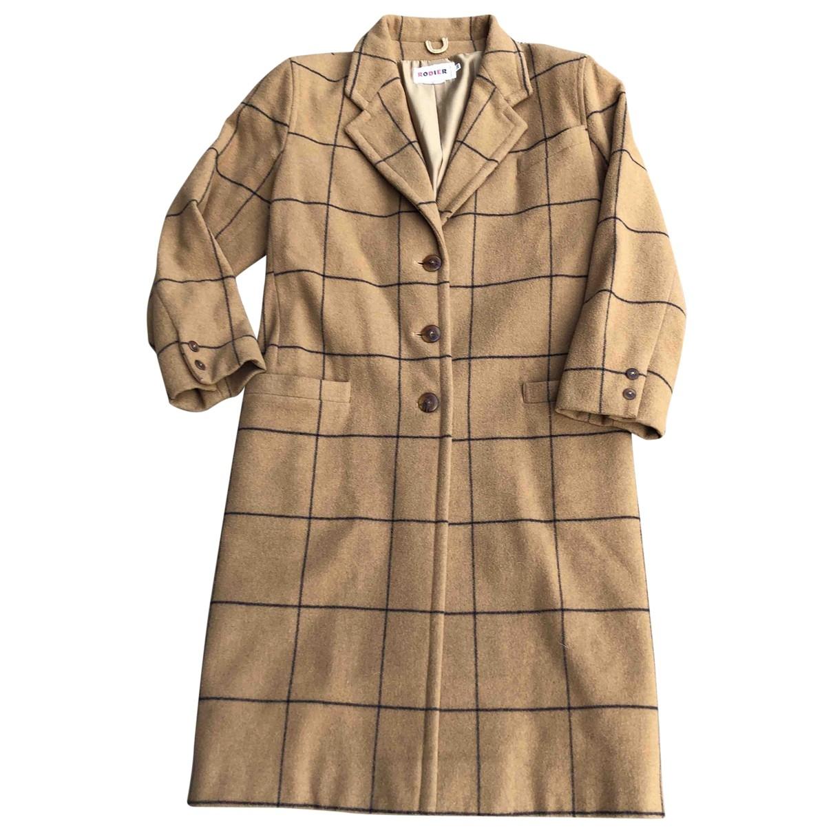 Rodier - Manteau   pour femme en laine - camel