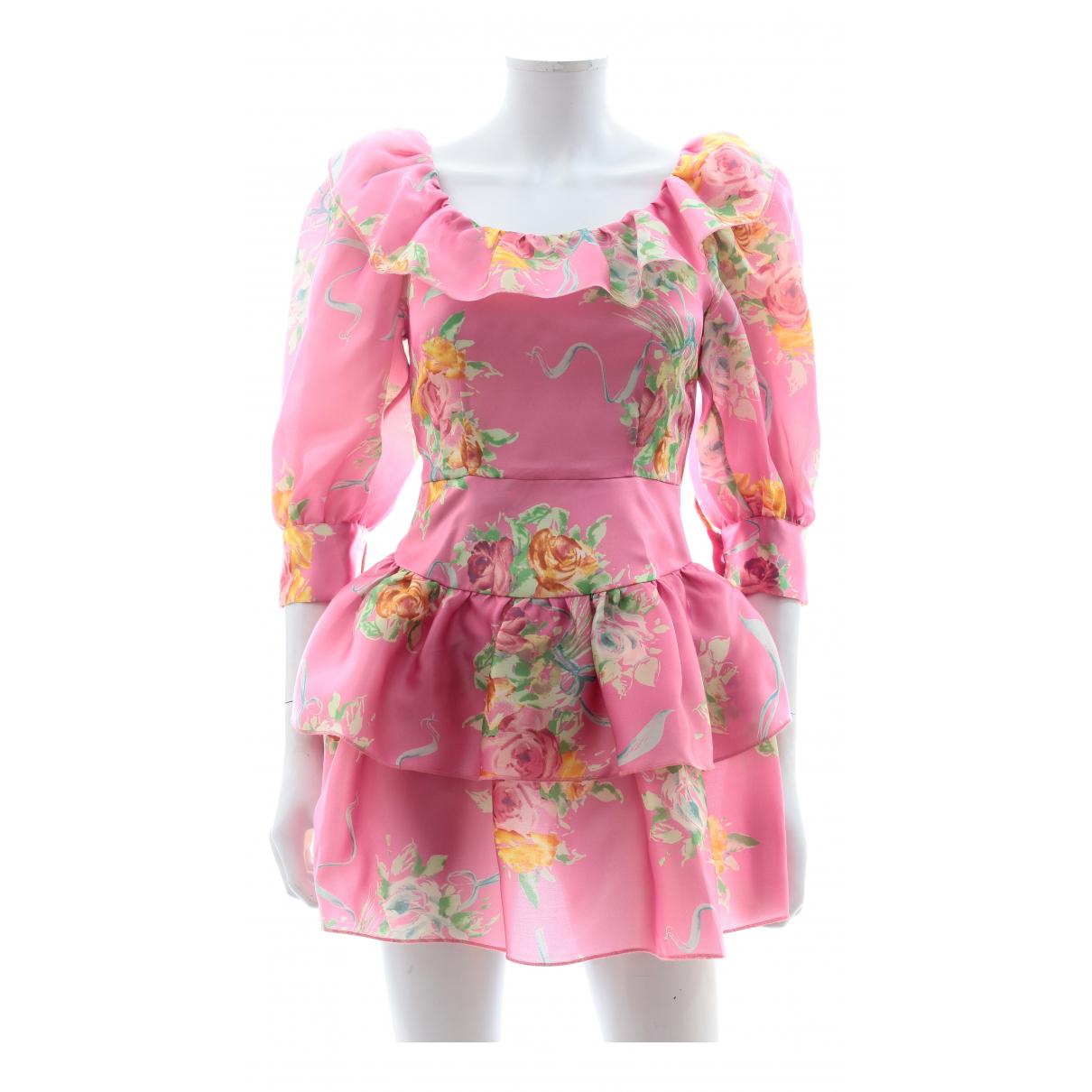 Alessandra Rich \N Kleid in  Rosa Seide