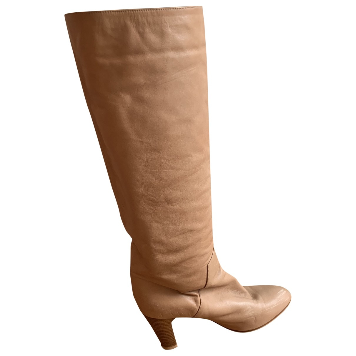 Sergio Rossi \N Camel Leather Boots for Women 38 EU