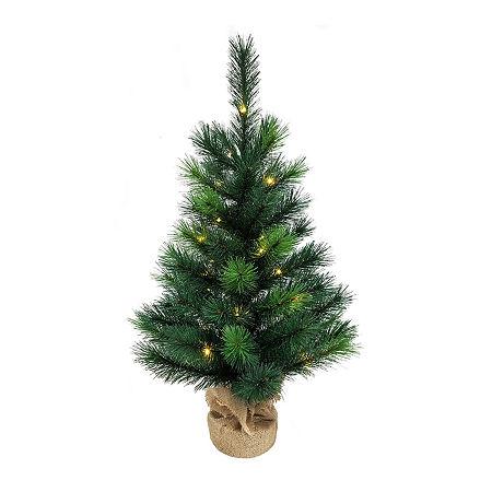 Kurt Adler 2 1/2 Foot Pine Pre-Lit Christmas Tree, One Size , Green